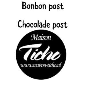 Chocolade en bonbon post
